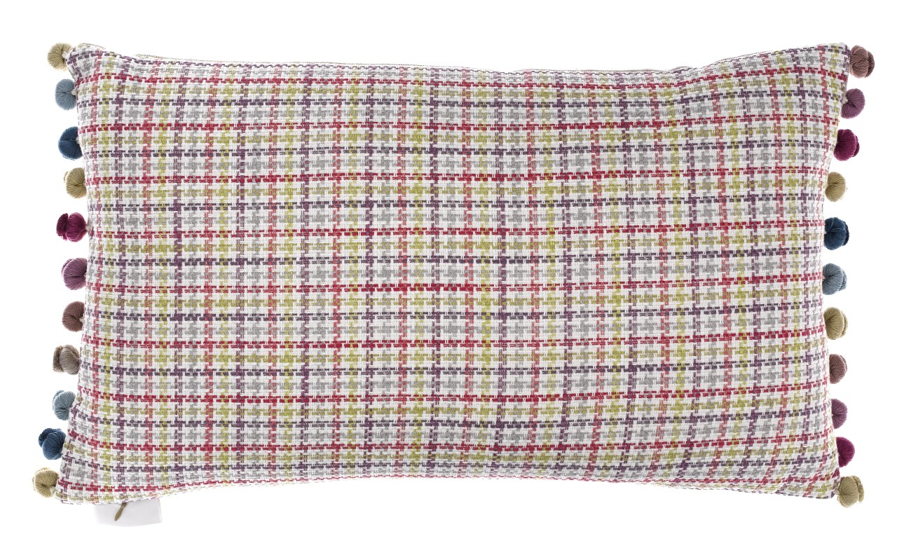Birdies cushion backed with morag raspberry finch lane for Au maison cushions