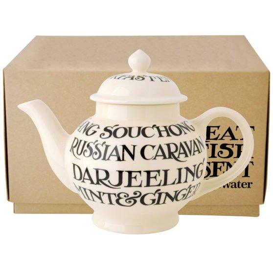 Emma Bridgewater Black Toast 4 Mug Teapot