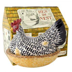 Emma Bridgewater Black Toast Silver Hen on Nest Boxed