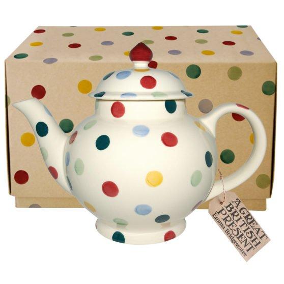 Emma Bridgewater Polka Dot 4 Mug Teapot Boxed