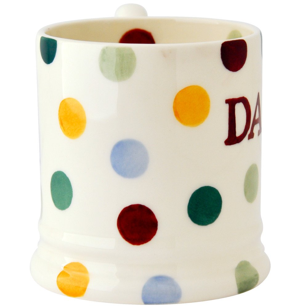 Emma Bridgewater Polka Dot Daddy 1 2 Pint Mug Finch