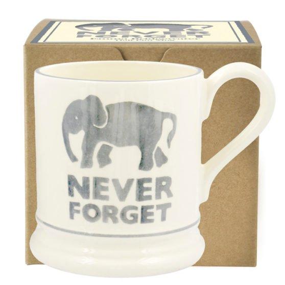 Emma Bridgewater Never Forget Elephant 1/2 Pint Mug