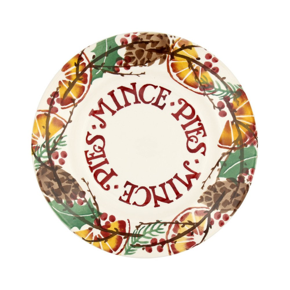 Holly Wreath 8 1/2\  Mince Pies Plate  sc 1 st  Finch \u0026 Lane Interiors : pies and plates - pezcame.com