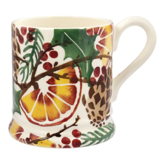 Emma Bridgewater Holly Wreath 1/2 Pint Mug