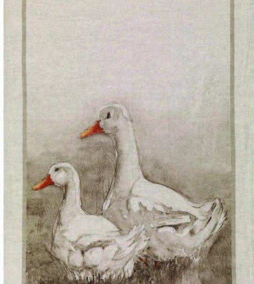 Ducks Italian Linen Tea Towel