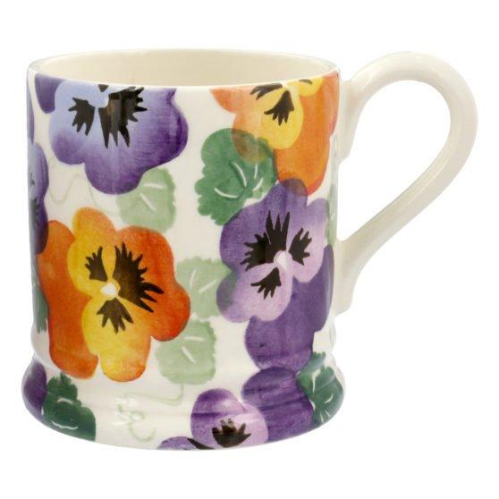 Emma Bridgewater Purple Pansy 1/2 Pint Mug