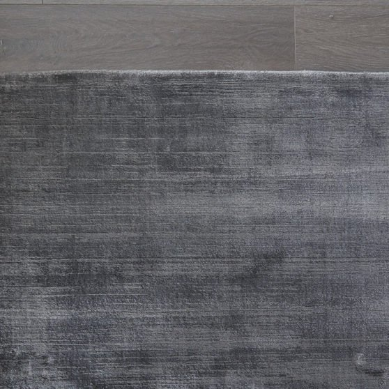 Classic Viscose Rug Collection - Charcoal