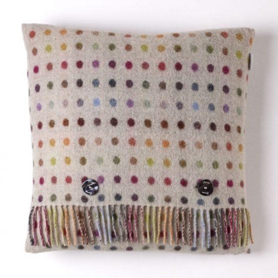 Multi Spot Cushion - Beige/Multi - Bronte by Moon