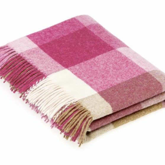 Pink & Natural Rome Throw - Bronte by Moon