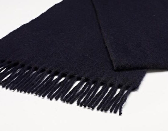 Bronte by Moon Plain Stoles - Navy Blue