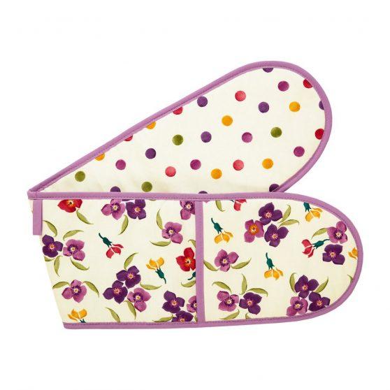 Emma Bridgewater Wallflower & Polka Dots Double Oven Glove