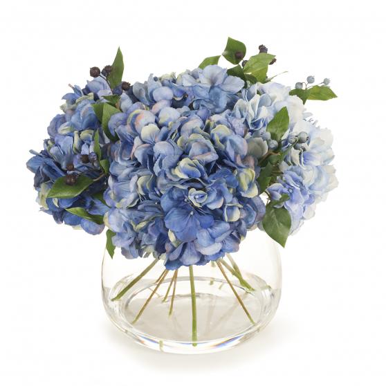 Artificial Flowers Hydrangea Mix in Vase