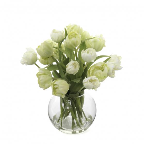 Artificial Flowers Tulips in Vase