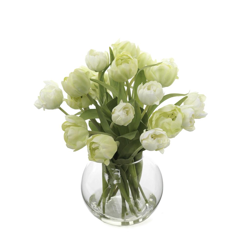 Artificial Flowers Tulips in Vase  Finch \u0026 Lane Interiors