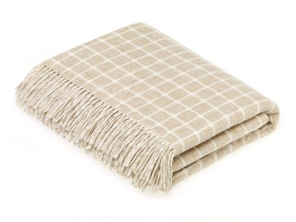 Athens Check Throw (Beige) - Bronte by Moon