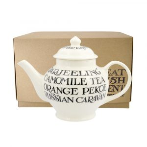 Emma Bridgewater Black Toast All Over Writing 2 Mug Teapot
