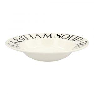 Emma Bridgewater Black Toast Soup Plate