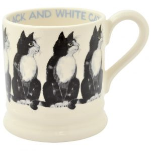 Emma Bridgewater Black and White Cat 1/2 Pint Mug