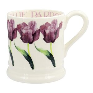 Emma Bridgewater Blue Parrot Tulip Half Pint Mug