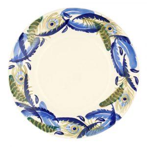 "Emma Bridgewater Feather Wreath 10 1/2"" Inch Plate"