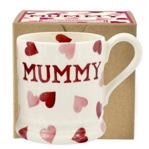 Emma Bridgewater Pink Hearts Mummy 1/2 Pint Mug
