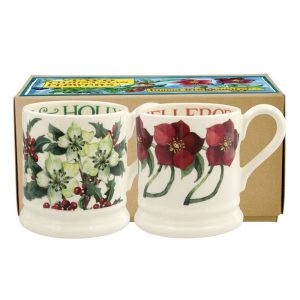 Emma Bridgewater Set of Two 1/2 Pint Mugs Multi Hellibore