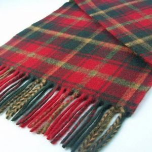 Bronte by Moon Tartan Stoles - Dark Maple