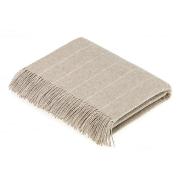 Sage Pinstripe Throw - Bronte by Moon