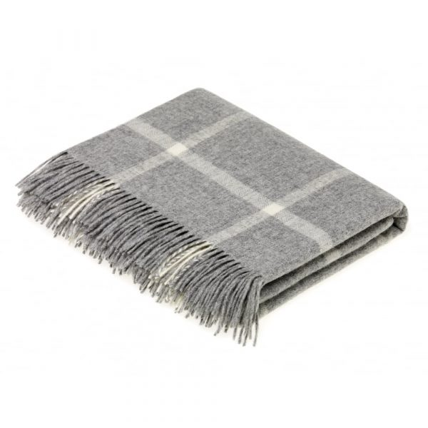Windowpane Check Throw - Bronte by Moon