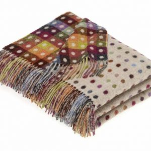Multi Spot Throw Beige/Multi - Bronte by Moon