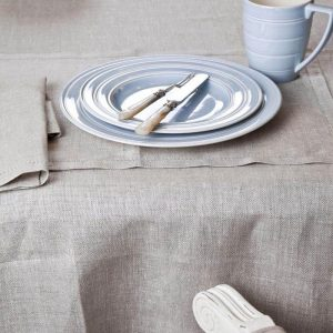 Classic Herringbone French Linen Tablecloths