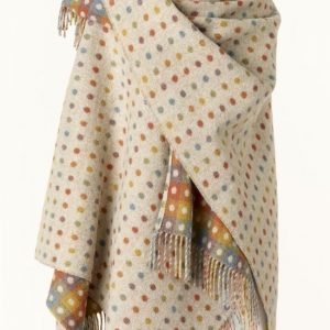 Bronte by Moon Mini Ruana Check - Multi Spot Beige