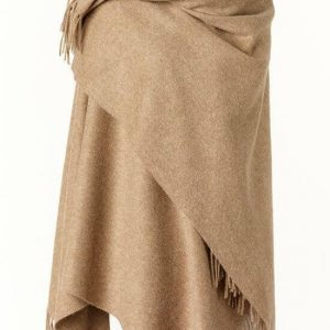 Bronte by Moon Mini Ruana Plain - Camel