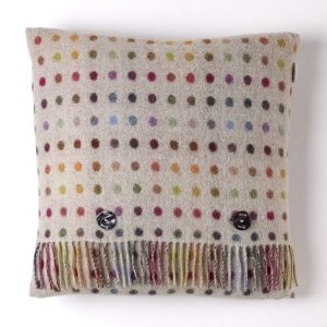 Multi Spot Cushion - Beige/Multi - Bronte by Moon