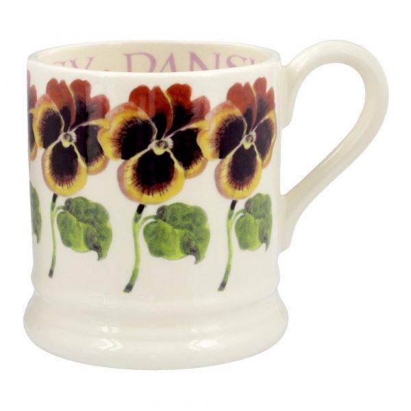 Emma Bridgewater Pansy 1/2 Pint Mug
