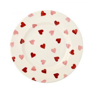 "Emma Bridgewater Pink Hearts 8 1/2"" Plate"
