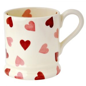 Emma Bridgewater Pink Hearts Half Pint Mug