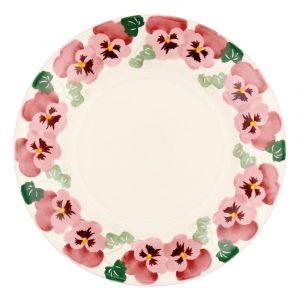 """Emma Bridgewater Pink Pansy 10 1/2"""" Plate"""