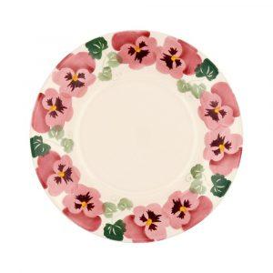 """Emma Bridgewater Pink Pansy 8 1/2"""" Plate"""