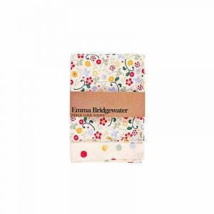Emma Bridgewater Spring Floral & Polka Dots Tea Towel - Pack of Two