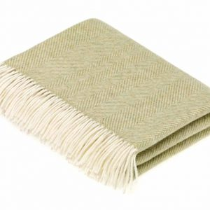 Sage Herringbone Throw - Bronte by Moon