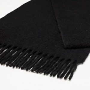 Bronte by Moon Plain Stoles - Black