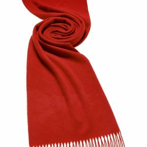 Bronte by Moon Plain Stoles - Scarlet Red