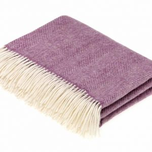 Lilac Herringbone Throw - Bronte by Moon