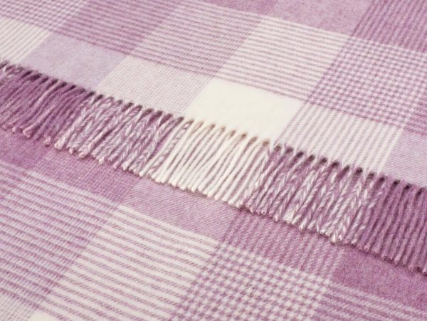 Blanket Check Cushion - Lilac - Bronte by Moon