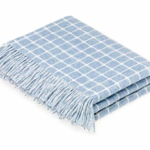 Athens Check Throw (Aqua) - Bronte by Moon