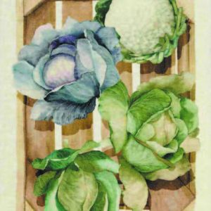 Cabbages Italian Linen Tea Towel