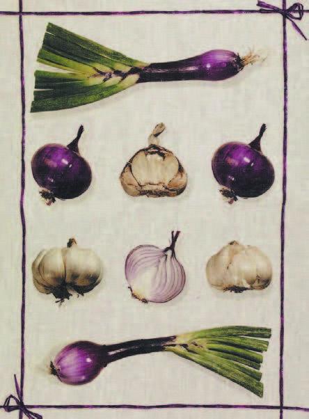 Onions Italian Linen Tea Towel
