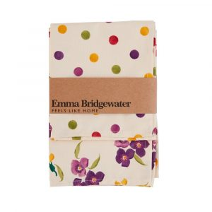 Emma Bridgewater Wallflower & Polka Dots Tea Towel - Pack of Two