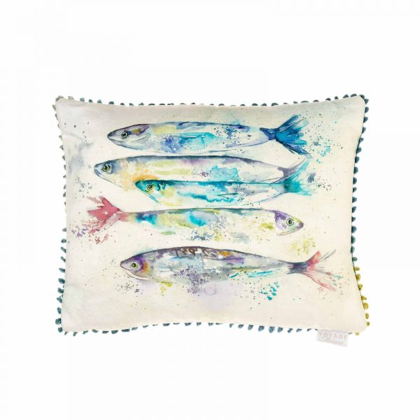 Sardines White Cushion